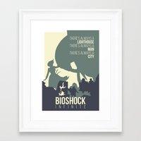 bioshock infinite Framed Art Prints featuring BIOSHOCK INFINITE by Carys Jordan