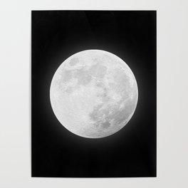 CHALK WHITE MOON Poster