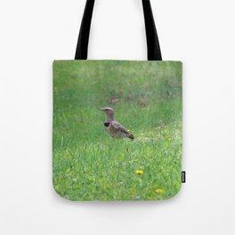 Northern Flicker & Dandelions Tote Bag