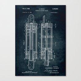 1962 - Hidraulic cylinder device Canvas Print