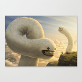 Fuzzy Cloud Worms Canvas Print