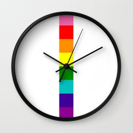 gay stripe Wall Clock