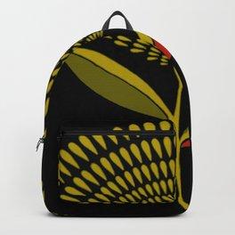 Mid Century Modern Dandelion Seed Head In Aspen Gold Backpack
