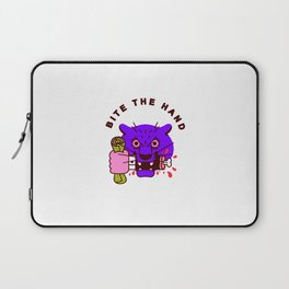 Bite the Hand Laptop Sleeve