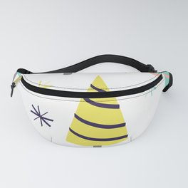 Colorful Christmas Trees Fanny Pack