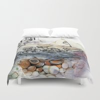 italy Duvet Covers featuring italy dualism by Andreas Derebucha