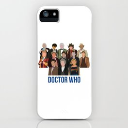 Doctor Who Through the Years iPhone Case