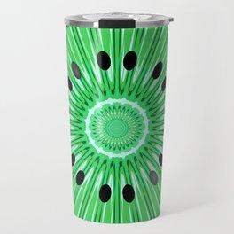 Digital art kiwi Travel Mug