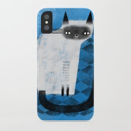 SIAMESE ON BLUE iPhone Case