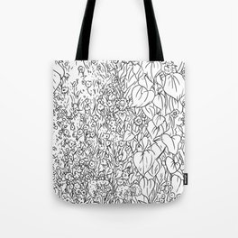 Great Prairie with Sunflowers in Black and White Tote Bag