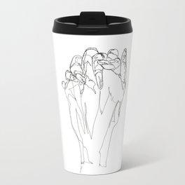 Line XIV (hands [clasped]) Travel Mug