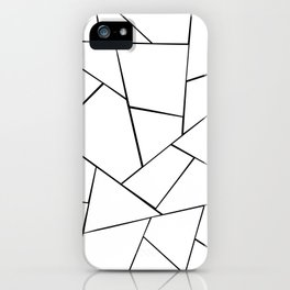 Black White Geometric Glam #1 #geo #decor #art #society6 iPhone Case