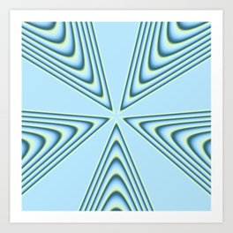 Linear Waves in MWY 01 Art Print