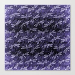 Purple Dragonfly Twighlight Dance Canvas Print