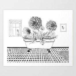 Dahlia Bath Art Print
