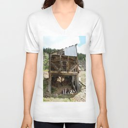 Exploring the Longfellow Mine of the Gold Rush - A Series, No. 9 of 9 Unisex V-Neck