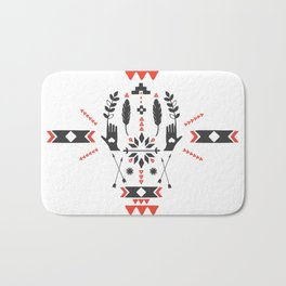Norwegian Folk Graphic Bath Mat