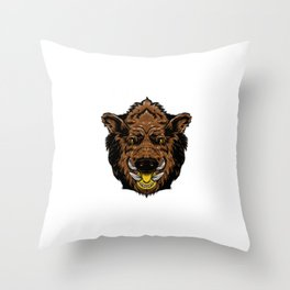 wild boar for people who like sensitive savages  Throw Pillow