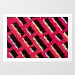 Chalks. Minimalism. Art Print