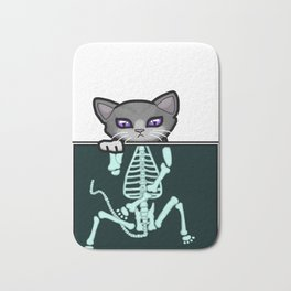 X-ray Cat Bath Mat