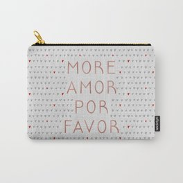 More Amor Rose Gold, Romantic Quote Carry-All Pouch