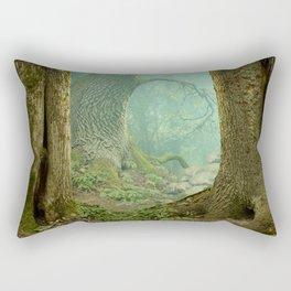 Enchanted misty forest Rectangular Pillow