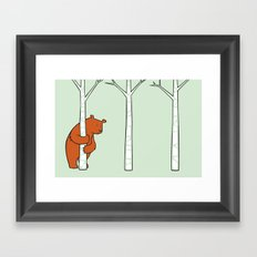 Shy Bear Framed Art Print