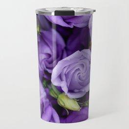 Beautiful purple roses background Travel Mug