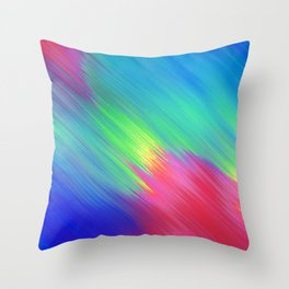 Colorful Movement Throw Pillow