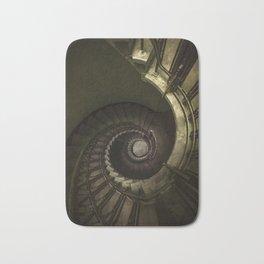 Dark moody spiral staircase Bath Mat