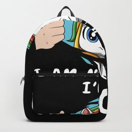Cute Unicorn Horn Pretty Rainbow Colors Funny Quote Backpack