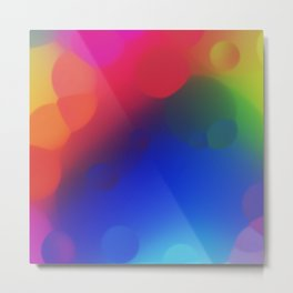 misc fantasy color drops A Metal Print
