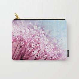 Mauve Lavender Blue Dandelion Dew Flowers Carry-All Pouch