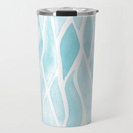 Sand Flow Pattern - Light Blue Travel Mug