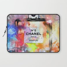 No 5 Painted Laptop Sleeve