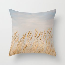 Gold Coast - Sea Oats on Chesapeake Bay Throw Pillow