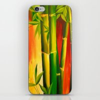 bamboo iPhone & iPod Skins featuring Bamboo by OLHADARCHUK