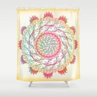 mandala Shower Curtains featuring Mandala by famenxt