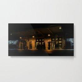 Kings Highway subway station at night (2020-5-GNY116) Metal Print