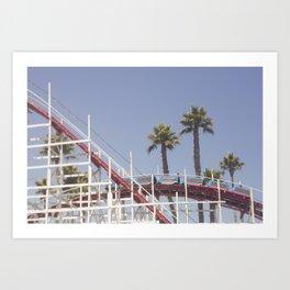 Santa Cruz Rollercoaster Art Print