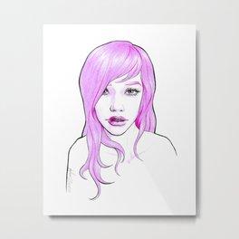 Sugar pink Metal Print