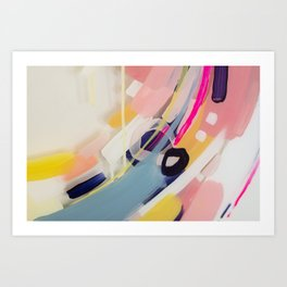 Those summer Days #1 Abstract on perspex by Jen Sievers Art Print