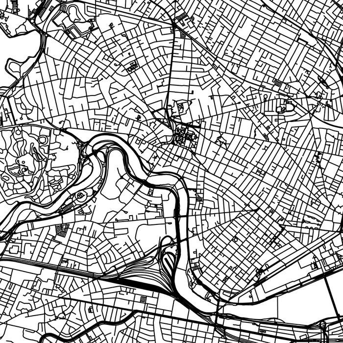 Boston White Map Leggings
