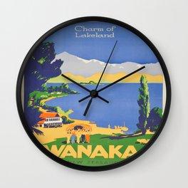 Vintage poster - Wanaka Wall Clock