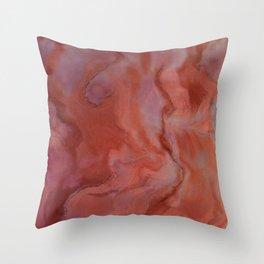 Agate - Original Art (encaustic painting) Throw Pillow