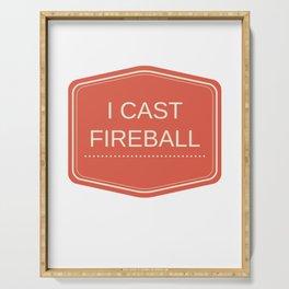 I CAST FIREBALL Serving Tray