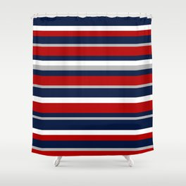 Flag Stripes Shower Curtain
