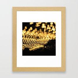Countless lights Framed Art Print