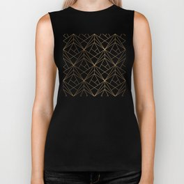 Marble, Geometry and Gold Biker Tank