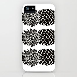 Pineapple Trio | Black and White iPhone Case